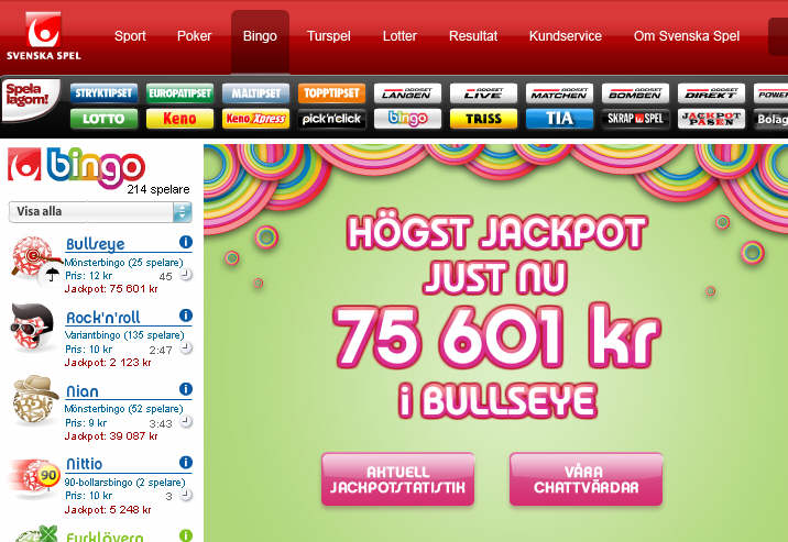 Svenska Spel Bingo